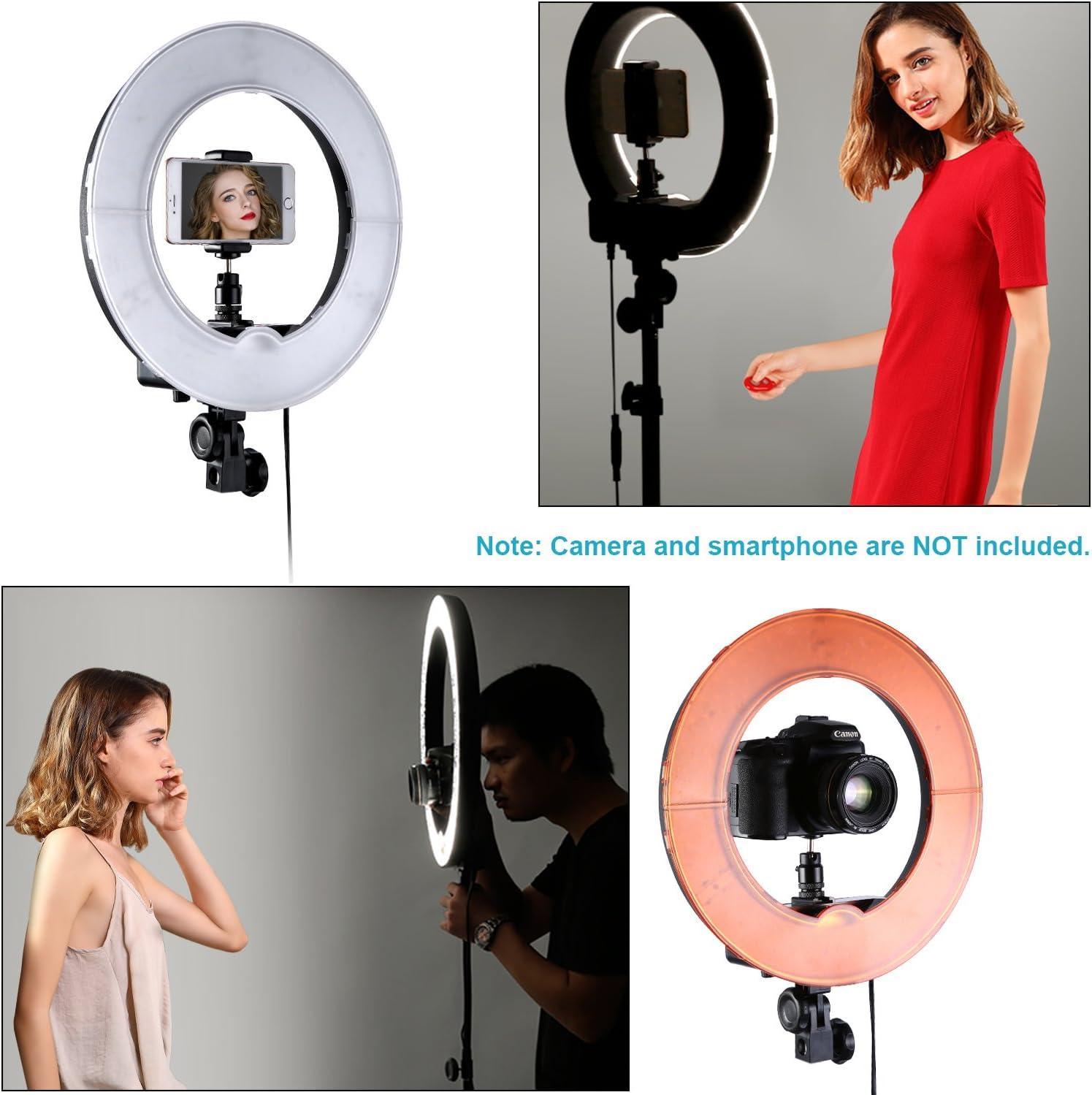 """14/"""" Exterior LED Bi-Color Anillo de Luz 5500K Kit de Iluminación Ring Light 40W"""