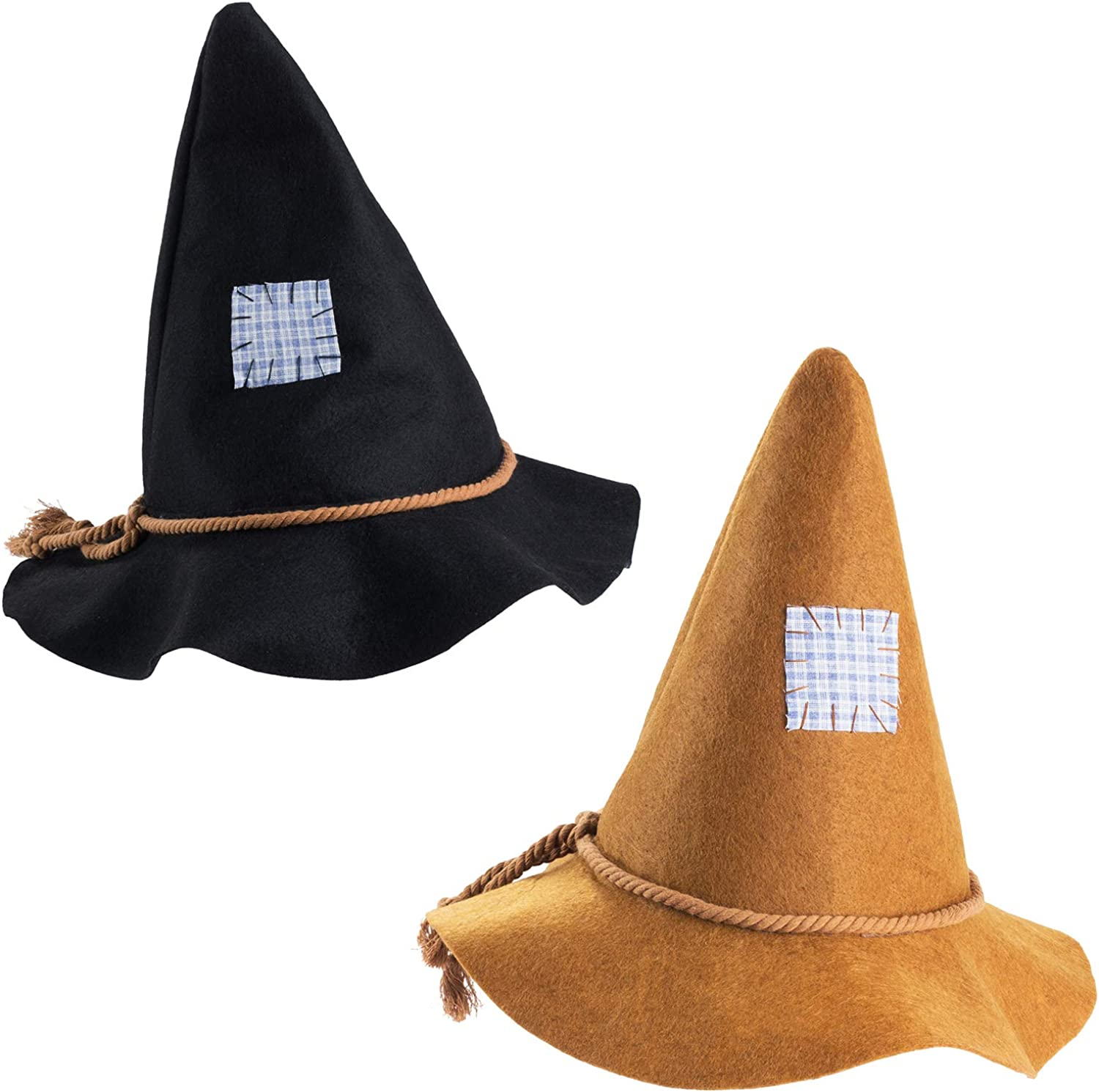 Tigerdoe Scarecrow Hats 2 Pack - Halloween Scarecrow Costume - Felt Scarecrow Accessories