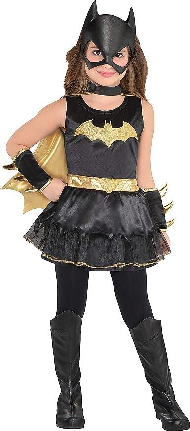 Toddler Girls Batgirl Costume Black Batman Superhero Bat Girl Childs Kids NEW