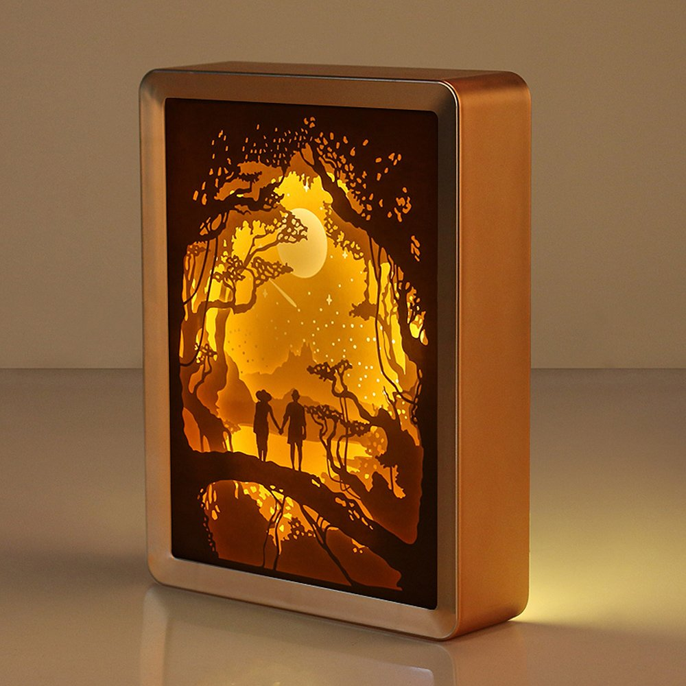 WOMHOPE鳥ケージ子供の夜ライト携帯型デザインタッチセンサー振動ケージランプ夜間ライト – 充電forキッズ、ベビー、バレンタインギフト、アウトドアランプ WXDZ0040-YE-B   B06X959DT5