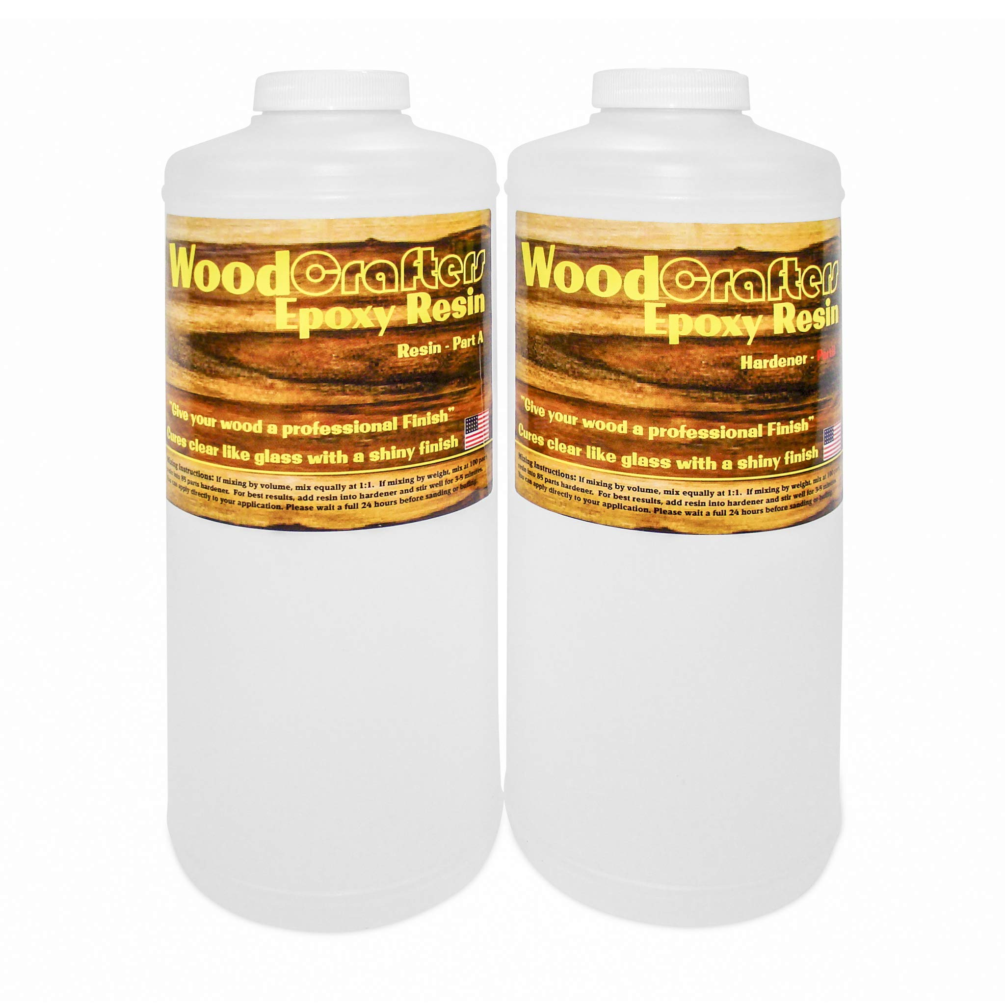 Crystal Clear WoodCrafters Epoxy Resin Coating for Bar Table Top - High Gloss Finish for Tabletops - 1 Gallon Kit by Clearcast 7000 (Image #3)