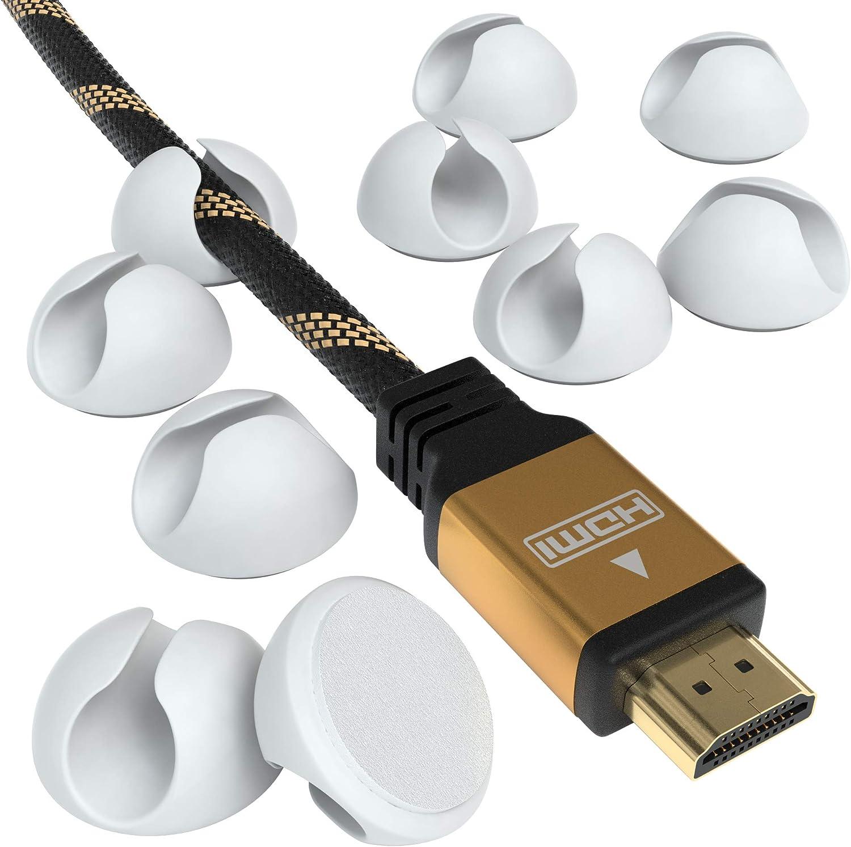 Eazy Case 12x Kabelclips Zur Kabelbefestigung Elastisch Selbstklebend I Kabel Befestigungsclips Kabelhalter Für Kabelmanagement Flexibel Weiß Baumarkt