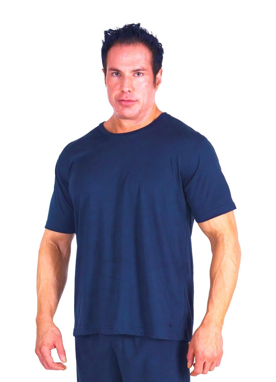 Cool-jams Wicking Sleepwear for Men – Moisture Wicking Short Sleeve Crew Neck Pajama T-Shirt