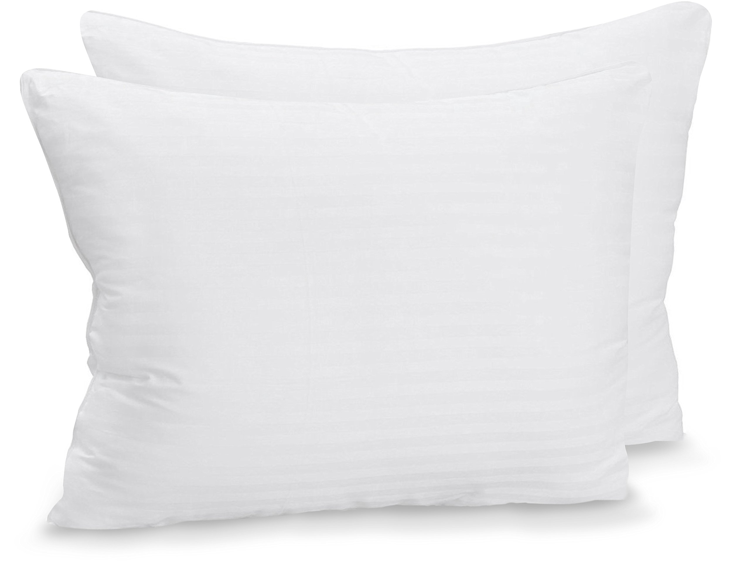 Utopia Bedding Premium Fiber Filled Bed Pillows for Sleeping - Pack of 2 - Super Plush Pillows - Soft and Fluffy Queen Sized Pillows