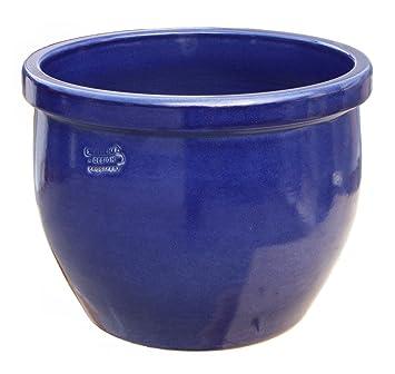 Pot De Fleur Bleu O 30 X 25 Cm Avec Trou De Drainage Forme