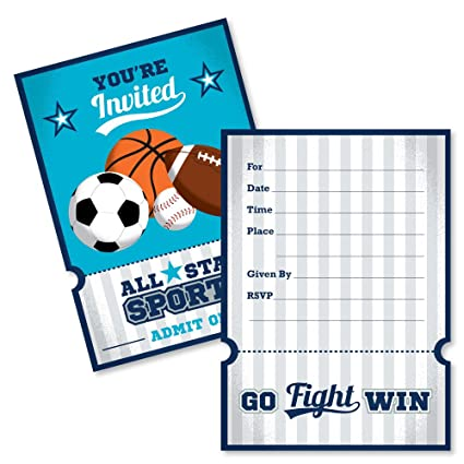Amazon go fight win sports shaped fill in invitations go fight win sports shaped fill in invitations baby shower filmwisefo