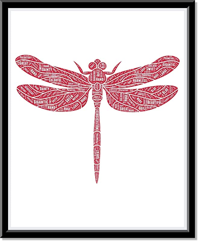 Dragonfly wall art, Personalized Dragonfly Decor, Dragonfly gift for her, Birthday Gifts, Word Art Typography Dragonflies make beautiful gift for nature lovers and kids…