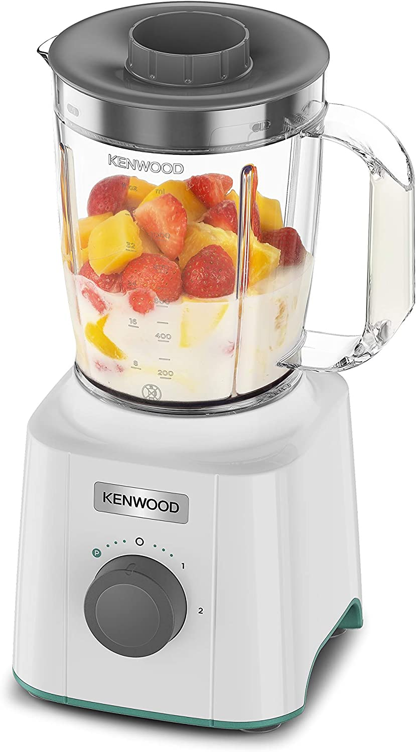 Kenwood Blend-Xtract 3-in-1, Spice Mill, 0,4L Smoothie Blender Attachment, 350w, 2 Speed, BLP31.D0WG, Plastic, White Blp31.aoct (White)