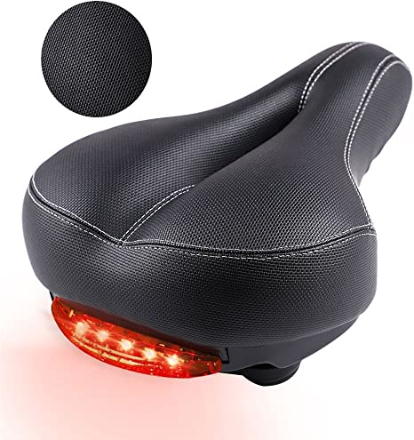VVHOOY Asiento de bicicleta de gel Sillín de bicicleta con luz ...