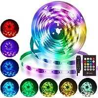 Hually LED Strip Verlichting, 3m Led Strip, Waterdicht, RGB met Afstandsbediening, 8 kleurveranderingen, Muziek…