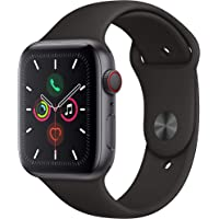 $447 » Apple Watch Series 5 (GPS + Cellular, 44mm) - Space Gray Aluminum Case with Black Sport Band