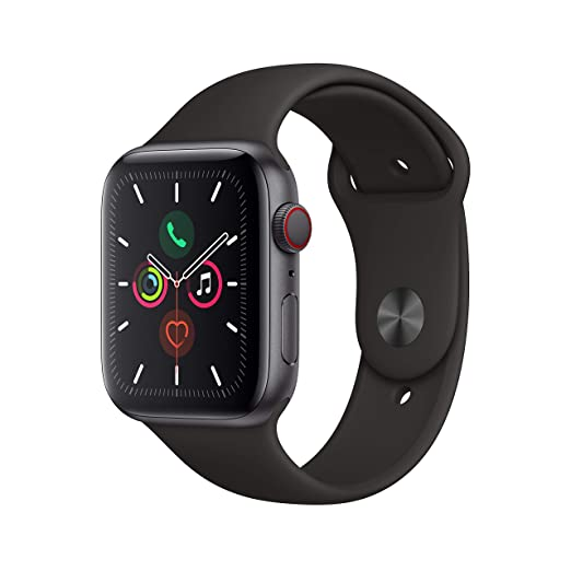 Amazon.in: Buy Apple Watch Series 5 (GPS + Cellular, 44mm) - Space Gray  Aluminium Case with Black Sport Band Online at Low Prices in India | Apple  Reviews & Ratings