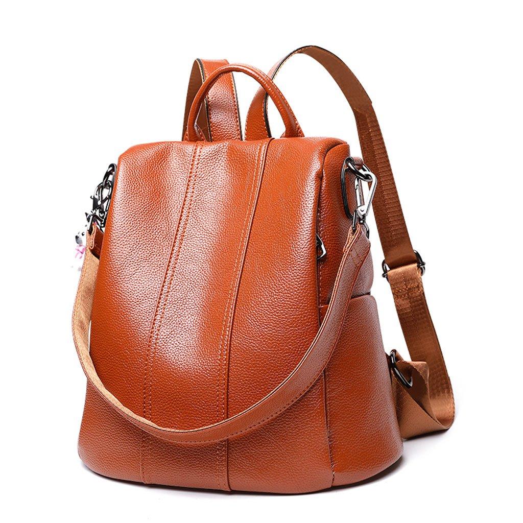 JM レザーショルダーバッグ 女性 韓国スタイル ファッション ワイルドレザーバッグ 大容量 カジュアル ソフトレザーバックパック (カラー:A) B07FY4KRGS