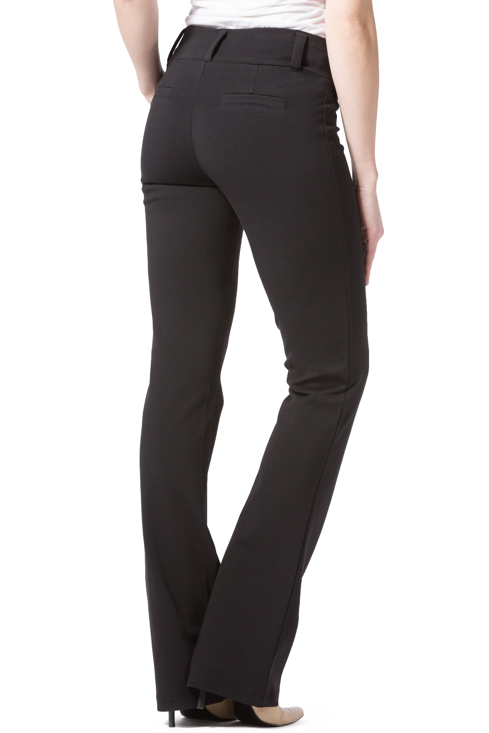 Fishers Finery Women's Ponte Boot Leg Dress Pant; Pull On (Black, M Petite) by Fishers Finery (Image #6)