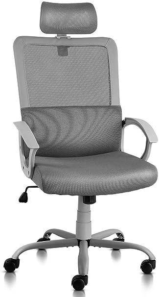 best sneakers d1574 9a50f Ergonomic Office Chair Adjustable Headrest Mesh Office Chair Office Desk  Chair Computer Task Chair