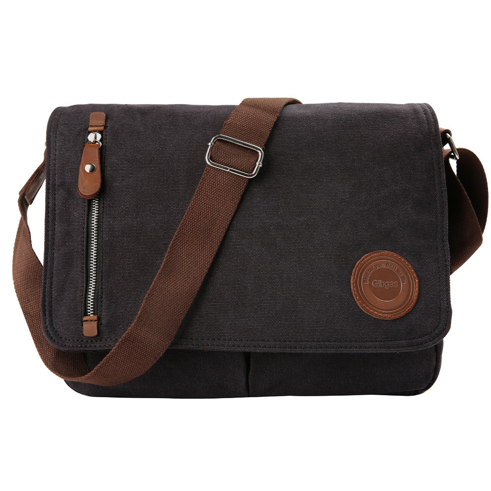 e0396024afba 85%OFF Gibgas Vintage Canvas Messenger Bag Laptop Shoulder Bag ...