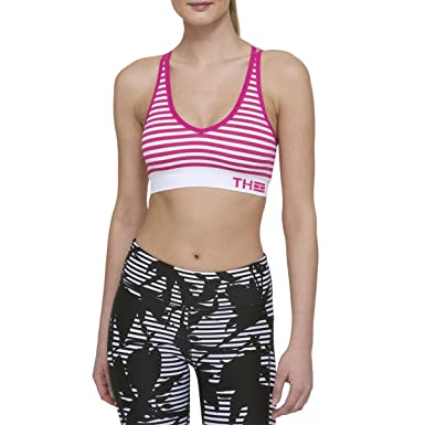 Tommy Hilfiger Womens Signature Striped Sports Bra Pink XS at Amazon  Women s Clothing store