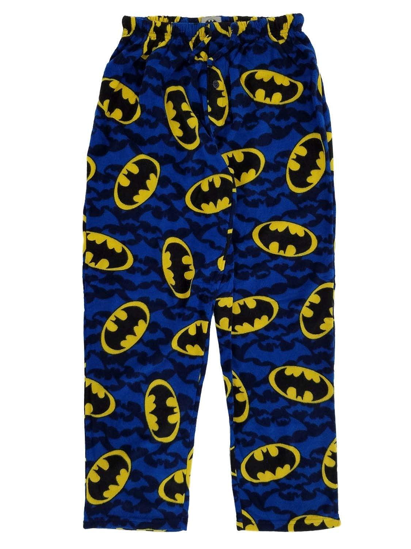 DC Comics Batman Blue Fleece Lounge Sleep Pants /& Head Mask
