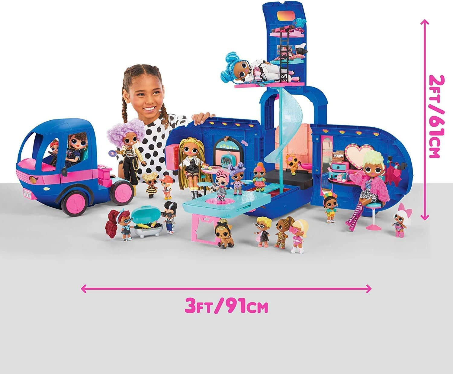 Surprises Car Slide Fun Gift Set LOL Surprise Doll Glamper Fashion Camper 55