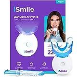 iSmile Teeth Whitening Kit - LED Light, 35% Carbamide Peroxide, (3) 3ml Gel Syringes, (1) Remineralization Gel, and Tray…