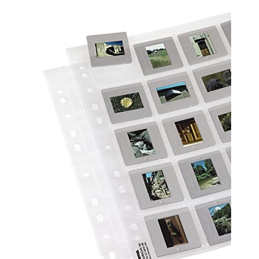 2 opinioni per Hama Fogli per Archivio Diapositive, 5x5, 12 Pezzi, Bianco