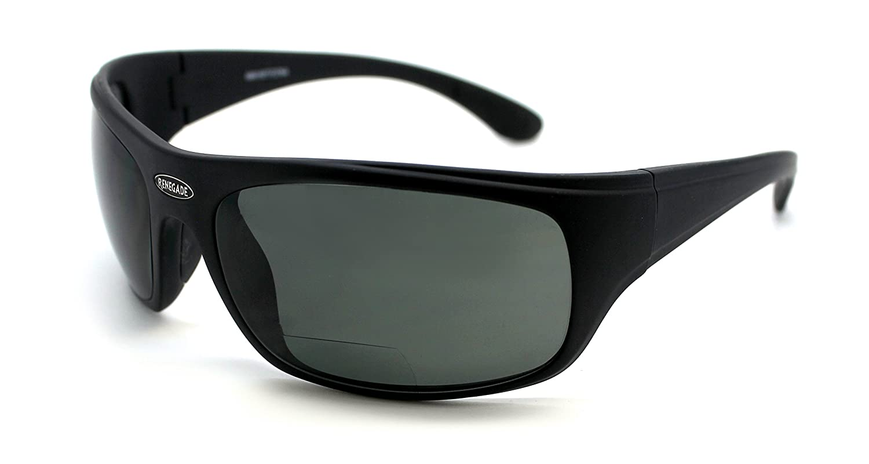 Renegade特許取得済み遠近両用眼鏡偏光フルリム釣りサングラス100 % UV保護 B01M8OBHJS Mat. Black Frame, Grey Lens - 600882 Bifocal +1.50