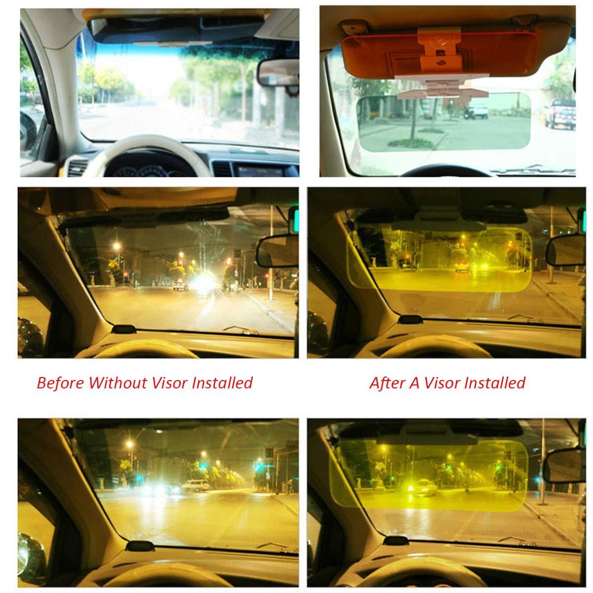 Sun Tac Visor Driving Traffic Safety Accessories-Night Goggles Sun Blocker Latest Version CT SUV/&Small Cars Visor Extender Length Extension Eagle Visor Windshield Day and Night Anti Glare Anti Dazzle Mirror