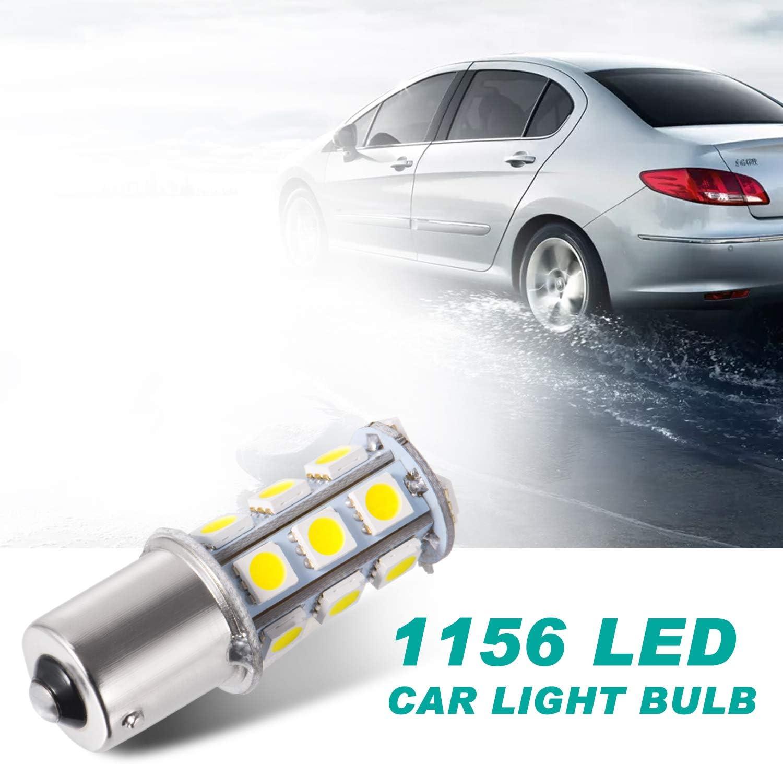DC 12V Super Bright 1156 1141//1003//1073//BA15S//7506 LED Replacement Light Bulbs 18 SMD 5050 LED Bulb for RV Camper SUV MPV Car Turn Tail Signal Brake Backup Light White, 10 Pcs