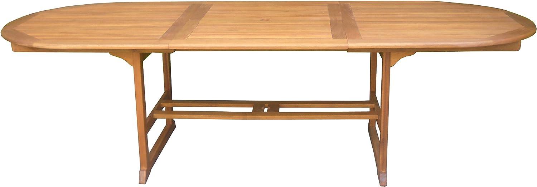 MilaniHome Tavolo Ovale Allungabile in Legno di Acacia 200