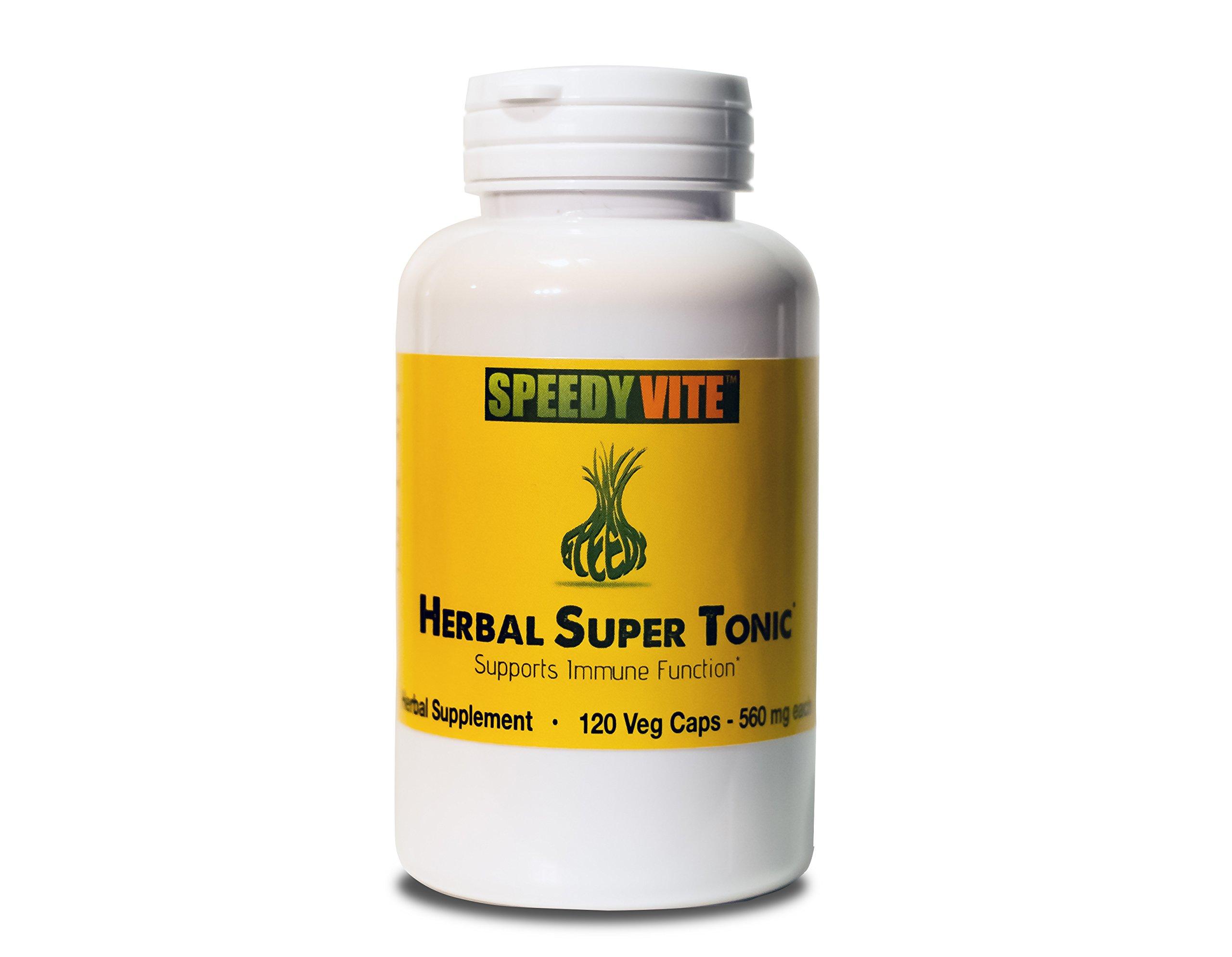 SpeedyVite® Herbal Super Tonic Organic (120 Veg Cap) Apple Cider Vinegar Horseradish Onion Garlic Ginger Cayenne Pepper Natural wildcrafted Supports Immune Function*