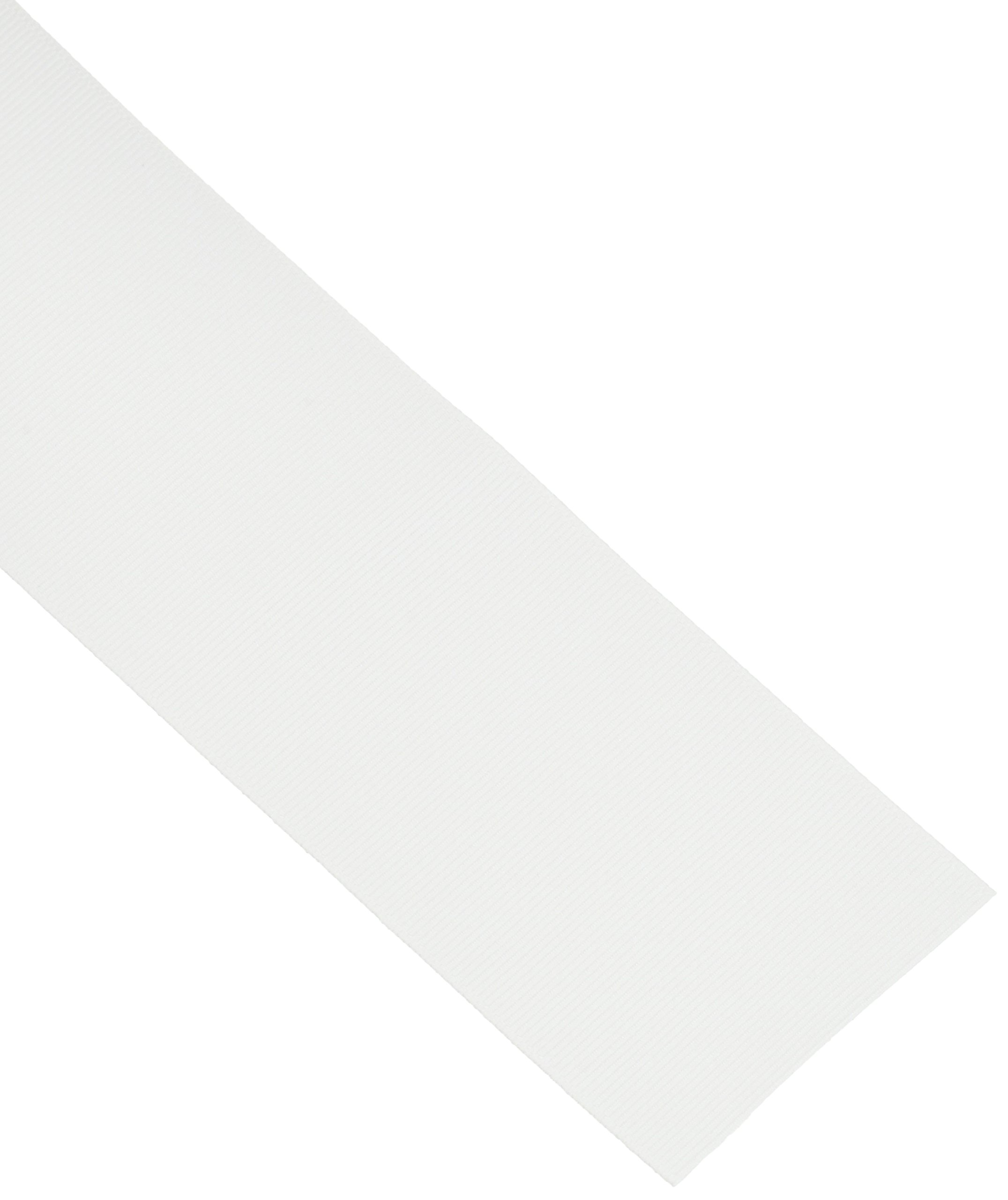 Offray Berwick 3'' Grosgrain Ribbon, White, 50 Yards by Offray