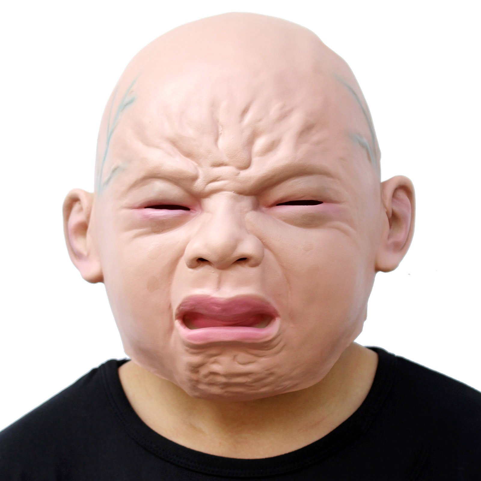 CreepyParty Novelty Halloween Costume Party Latex Head Mask Baby Face (Cry Baby) (Cry Baby) by Creepy Party