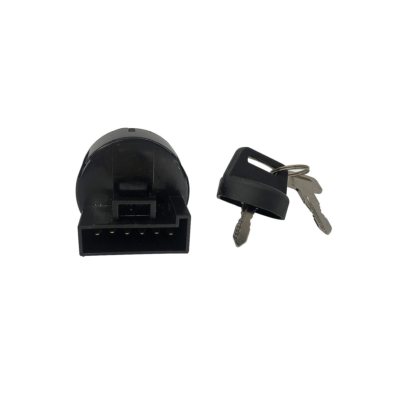 SHUmandala 6 Pins 4 Position 4012166 4011142 Ignition Key Switch Replace for Polaris Ranger 400 500 570 800//ACE 570 900//RZR 570 ATV