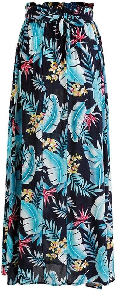CANDLLY Faldas de Fiesta Mujeres Elegante Playa Maxi Faldas de ...