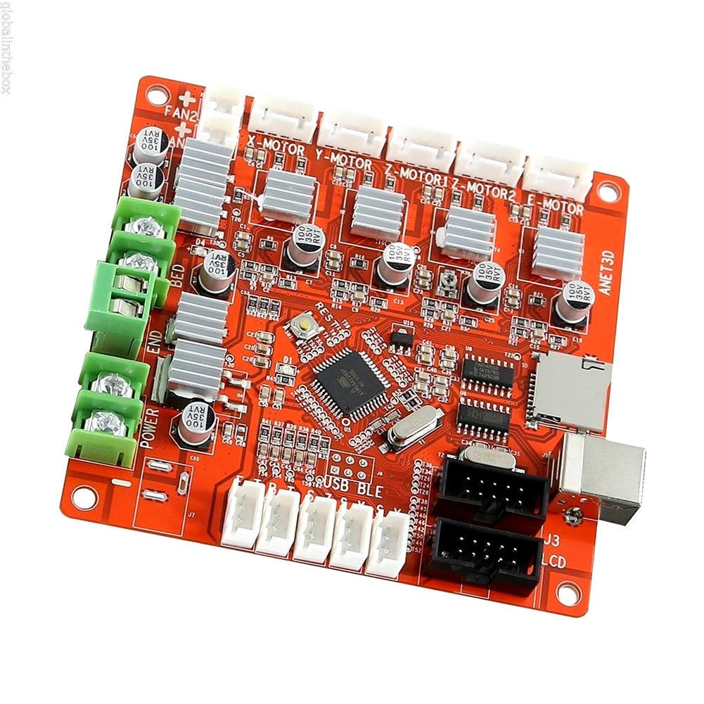 Control Mother Board Mainboard for ANET A8 DIY 3D Printer (red) by cyclamen9 (Image #6)