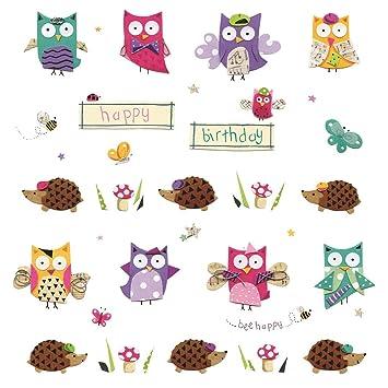 Amazon Owl Hedgehog Birthday Card Happy Birthday Kitchen