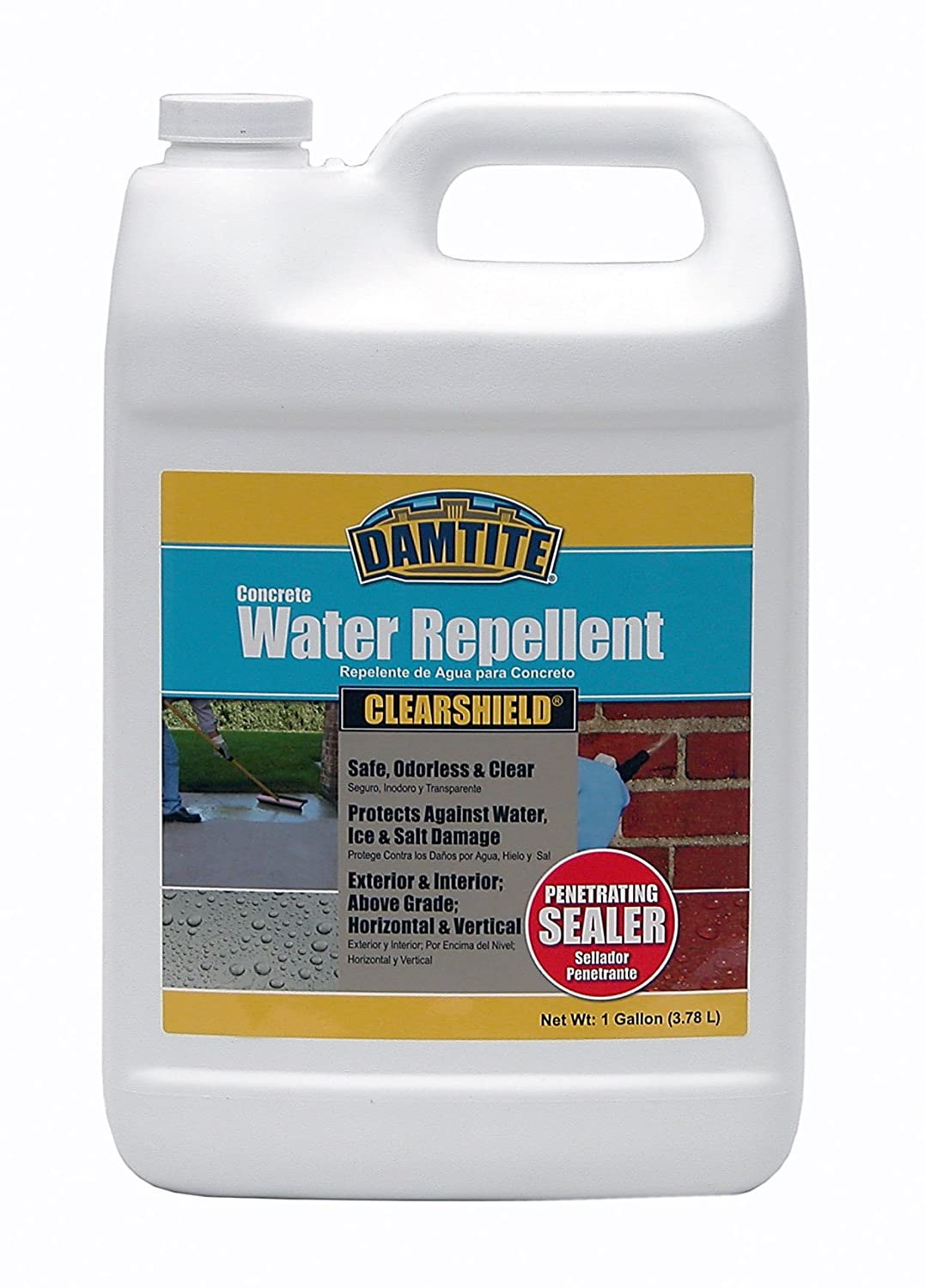 Damtite 06350 Clear Shield Water Repellent, 1 gal Bottle ...