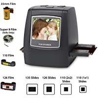 "Jumbl High-Resolution 14MP Scanner/Digitizer - Converts 35mm Negatives & Slides to 14- or 22-Megapixel Digital JPEGs Using Built-In Software Interpolation - No Computer/Software Required to Operate - Features 2.4"" Color LCD & TV Out"