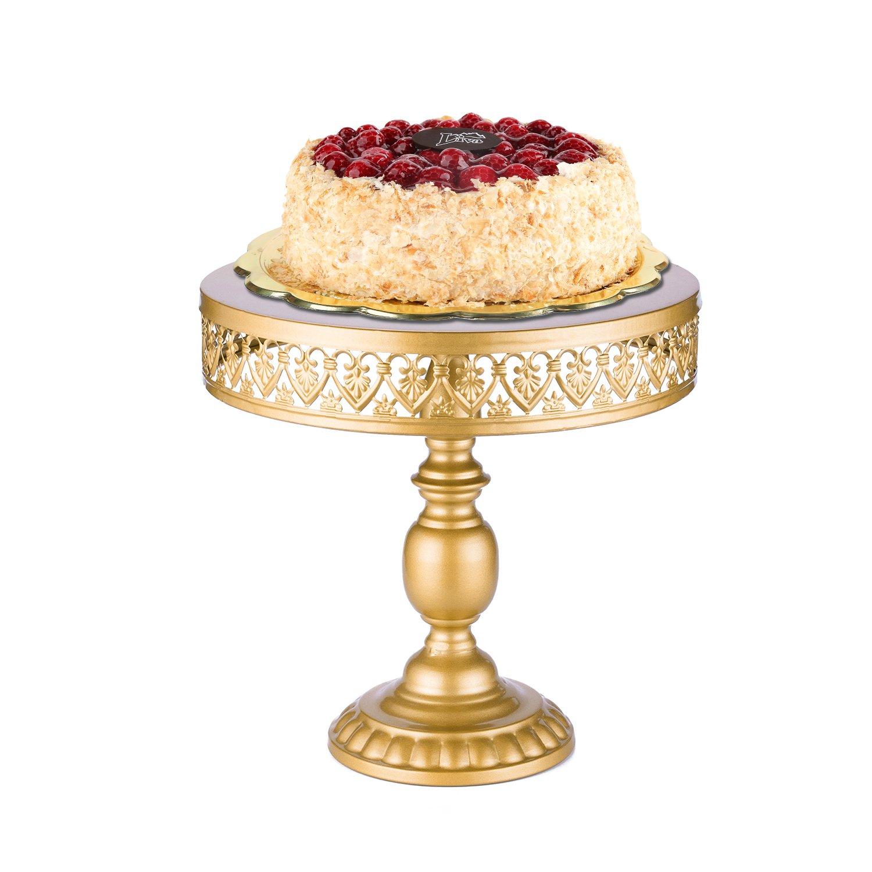 18 Kゴールドアンティークメタルケーキスタンド、ラウンドカップケーキスタンド、ウェディング誕生日パーティーデザートカップケーキペデスタル/表示/プレート UM-HB-CAKE STAND-12
