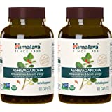 Himalaya Organic Ashwagandha, Adaptogen for Stress-relief, Cortisol level support and Energy Boost, 60 Caplets, 670 mg (2 PACK)
