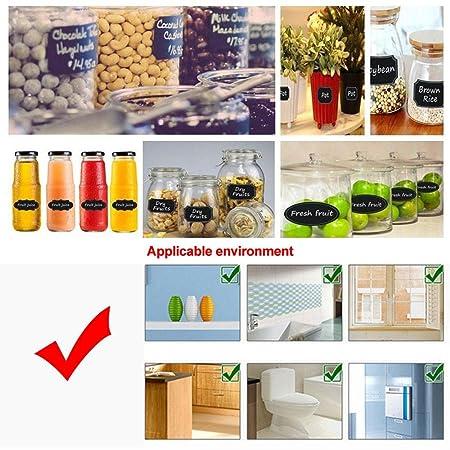 ... impermeables, reutilizables, etiquetas para pizarra - etiquetas borrables y imprimibles para tarros de cocina, especias, botellas de cristal - Organiza ...