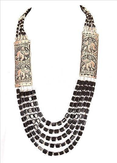 379418964 Buy Zephyrr Multi-Strand Necklace for Women (Black   Silver)(Jan-266 ...