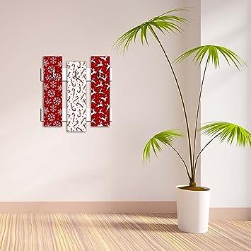 Gancho decorativo de pared 3 piezas de metal llavero soporte 100% MDF montado para colgar ...