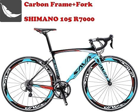 SAVA Bicicleta de Carretera de Carbono, Bicicleta de Carretera Warwinds5.0 700C de Fibra de Carbono