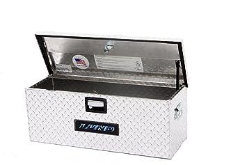 Lund 288273A 36 Inch Aluminum ATV Storage Box, Diamond Plated, Silver