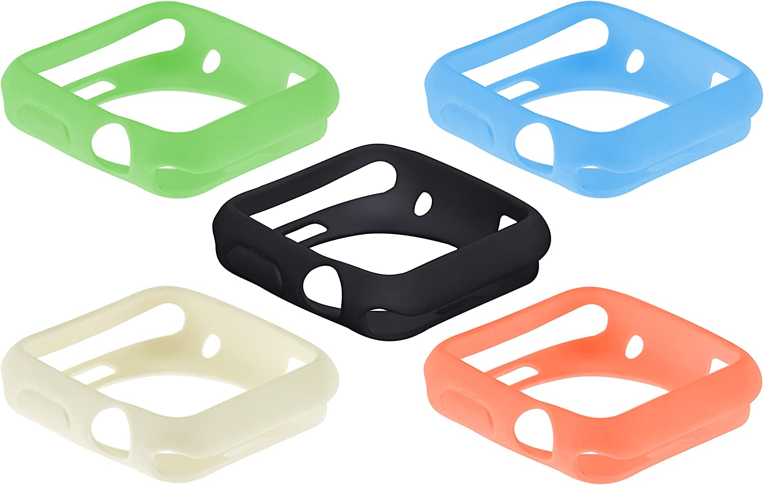 SE Assorted Color 42 mm Silicone Sport Cases for Apple Watches (5 PC.) - AW9942-5C