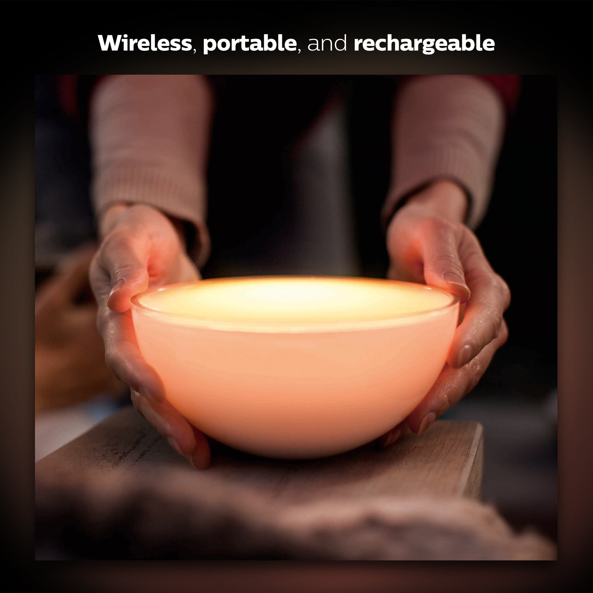 Philips Hue Go White and Color Portable Dimmable LED Smart Light Table Lamp (Requires Hue Hub, Works with Alexa, HomeKit and Google Assistant) by Philips Hue (Image #3)