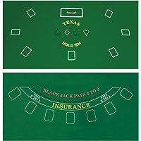 Da Vinci Cobertor de Fieltro Reversible con diseño de Casino para póker Texas Holdem y Blackjack, 91 x 183 cm