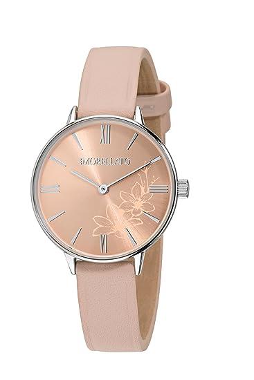 MORELLATO Reloj Analógico para Mujer de Cuarzo con Correa en Cuero R0151141503: Amazon.es: Relojes