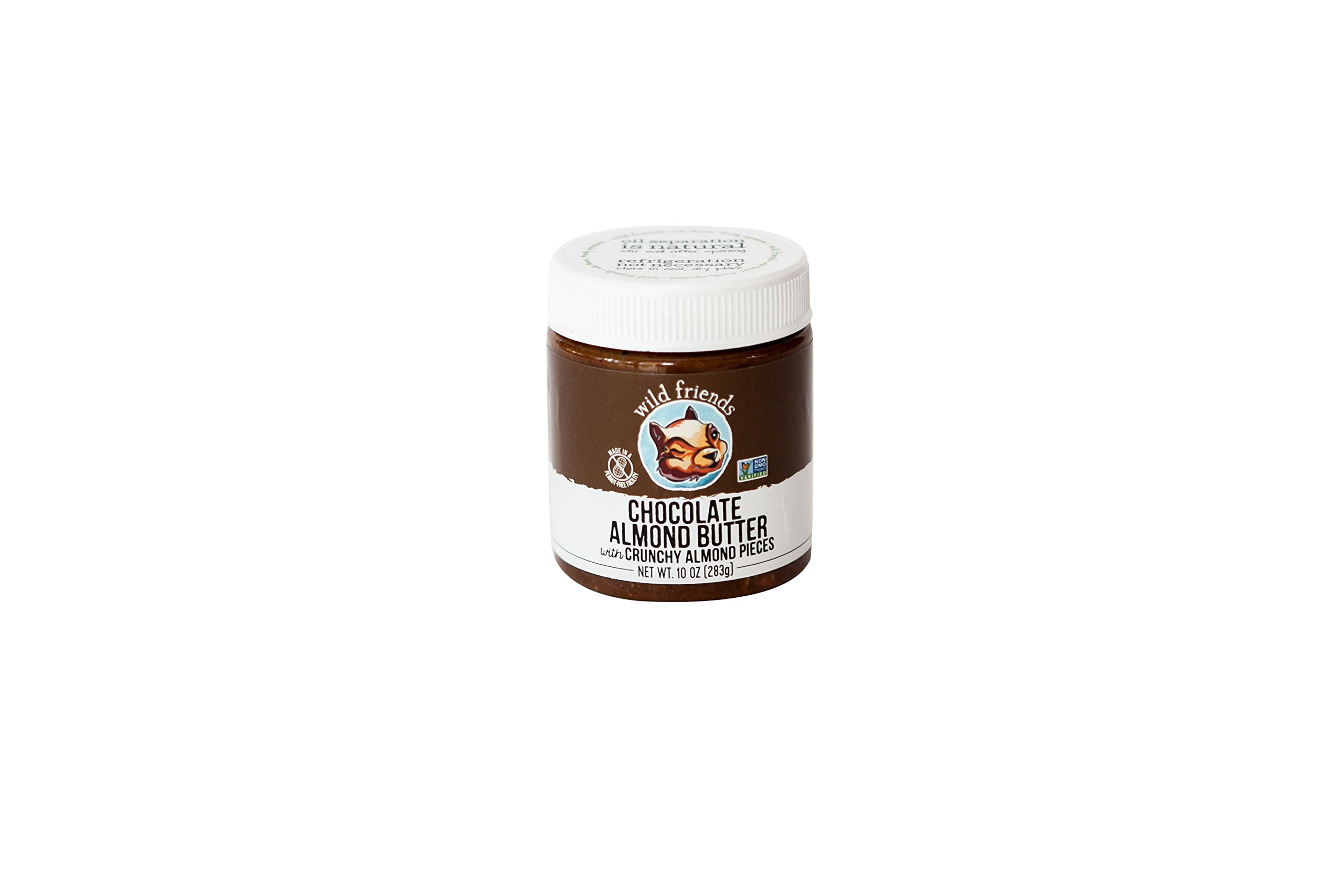 Wild Friends Foods Almond Butter, Chocolate, 10 oz Jar
